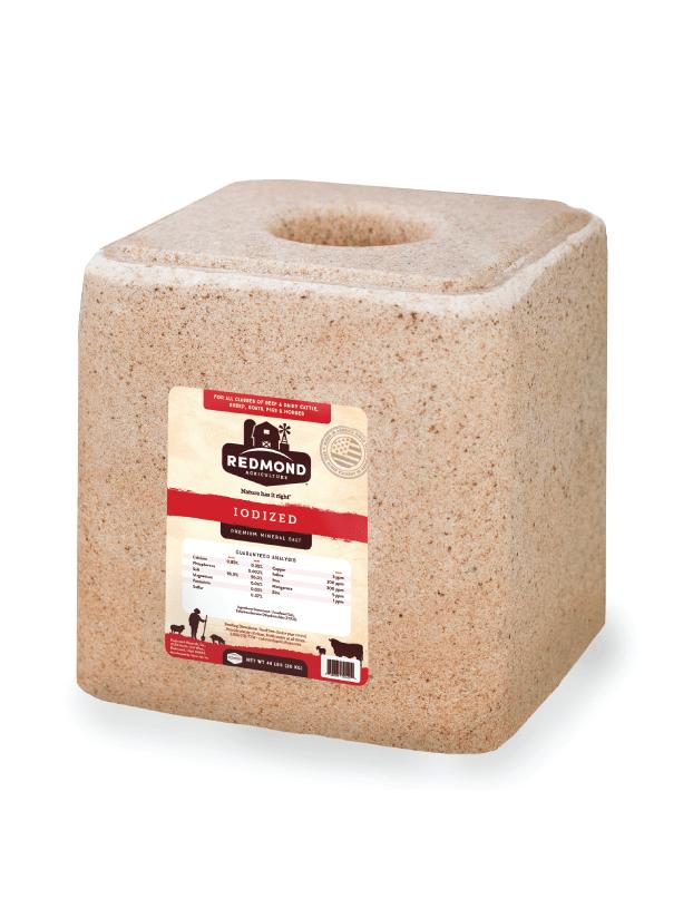 Redmond Iodized Premium Mineral Salt Block