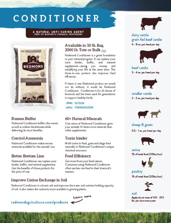 Redmond Conditioner Info