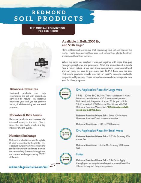 Redmond Soil Flyer Front
