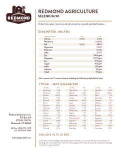 Redmond Agriculture Selenium 90  Analysis
