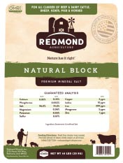 Redmond Natural Premium Mineral Salt Block